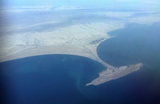 China–Pakistan Economic Corridor - A view of the Gwadar Promontory and isthmus.
