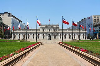 La Moneda Palace seat of the President of the Republic of Chile