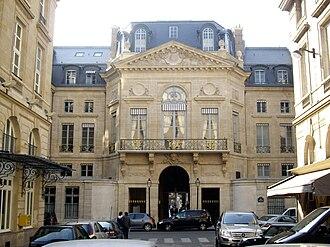 Pierre Contant d'Ivry - Contant d'Ivry's avant corps on the Rue de Valois