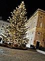 Palazzo Ducale (Genova) Facciata lato Piazza De Ferrari con Albero di Natale 2017.jpg