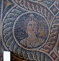 Palazzo dei gran maestri di rodi, sala delle muse, mosaico delle nove muse da kos 04 melpomene.JPG
