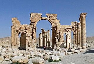 triumphal arch in Palmyra, Syrie