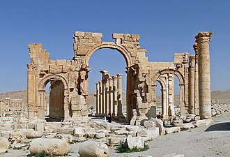 Monumental Arch of Palmyra - Ruins of the Monumental Arch in 2010