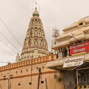 Vitthal Temple, Pandharpur - The shikhara of Rakhumai's cella