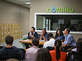 Panel on the Future of Journalism in a Wikipedia World at Nomiku.jpg