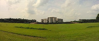 Jatiya Sangsad Bhaban - Image: Panorama of National Assembly of Bangladesh (02)