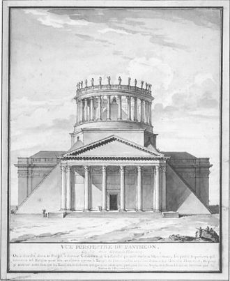 Charles de Wailly - Project for transforming the Panthéon into a temple to the republic.