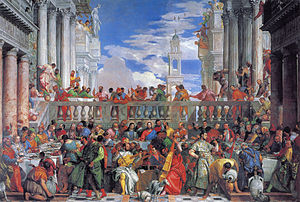 The Wedding at Cana by Paolo Veronese (mid-16t...
