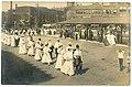 Parade at Lynn station 1908 postcard.jpg