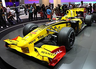 Lucas di Grassi - The Renault R30 (pictured in its 2010 configuration) which di Grassi tested in 2012 to develop Pirelli's next generation of tyres in Formula One.
