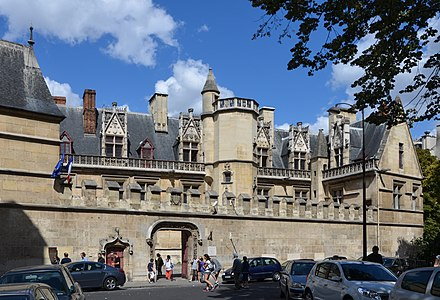 Courtyard Of The Hotel De Cluny With Its Stairway In An Exterior Tower In The Center About 1500