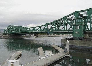 Park Street Bridge bridge connecting Alameda and Oakland