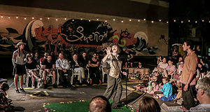 The Drilling Company - Summer of 2015 Shakespeare in the Parking Lot production of As You Like It at the Clemente Soto Vélez Cultural and Educational Center.