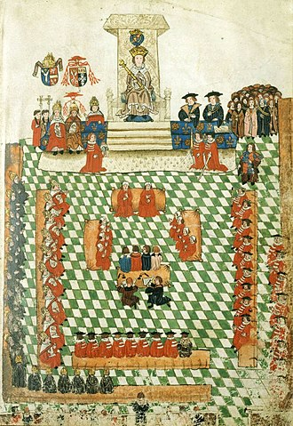 Speech from the throne - King Henry VIII at the opening of the Parliament of England at Bridewell Palace, 1523