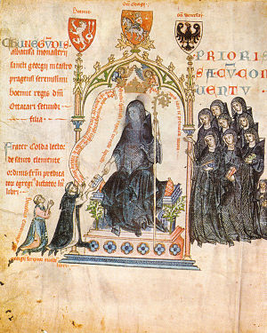 Passional of Abbess Kunigunde - Dedication Illustration on fol. 1v