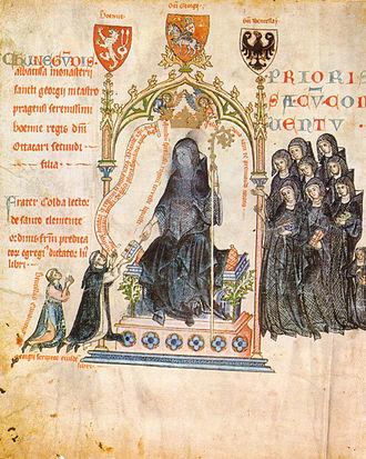 Passional of Abbess Kunigunde - Dedication Illustration on fol. 1v