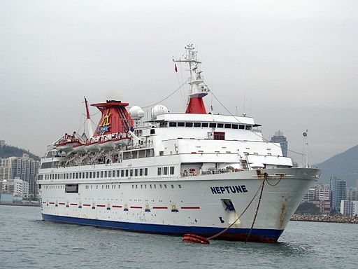 Passenger Cruise Ship Neptune at Hong Kong