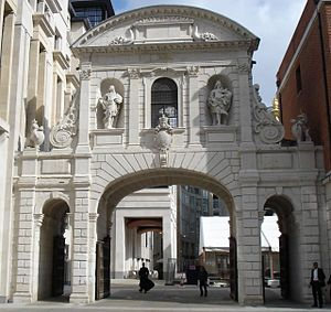 1670s in architecture - Temple Bar, London in modern-day location
