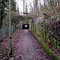 Path towards an underpass, Risca (geograph 5258232).jpg
