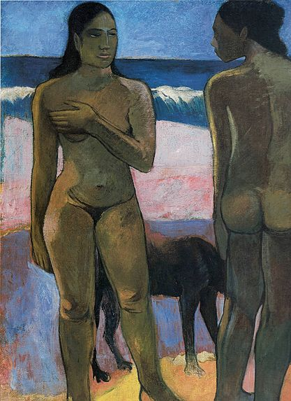 File:Paul Gauguin (1848-1903) - Two Nudes on a Tahitian Beach.jpg