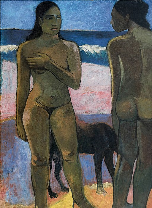 Paul Gauguin (1848-1903) - Two Nudes on a Tahitian Beach