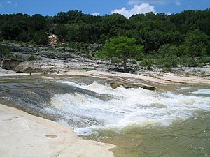 Pedernales River - The Pedernales River in Pedernales Falls State Park