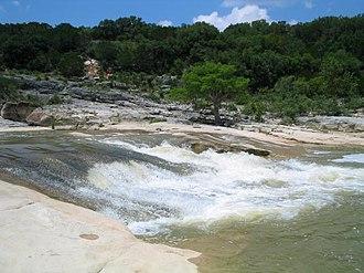 Pedernales River - The Pedernales River in Pedernales Falls State Park