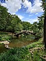 Pedestrian Bridge at Pugh's Mill, aka The Old Mill, North Little Rock, AR.jpg