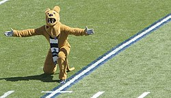 The Nittany Lion mascot at the 2007 season opener