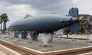 Hull of Peral submarine at Cartagena, Spain