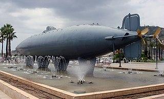 submarino de Peral en la plaza Héroes de Cavite de Cartagena