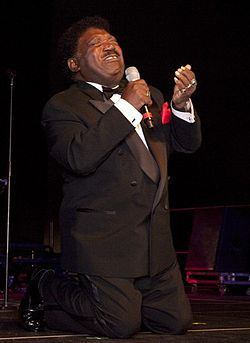 Percy Sledge vid the Alabama Music Hall of Fame