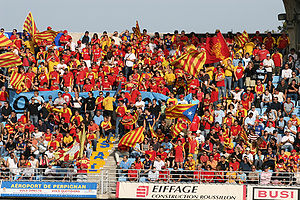 USA Perpignan - Perpignan fans at a home game