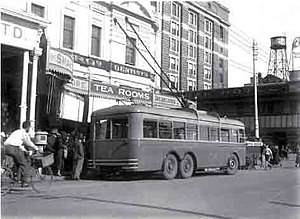 Trolleybuses in Perth - Image: Perth trolleybus number 2 1933