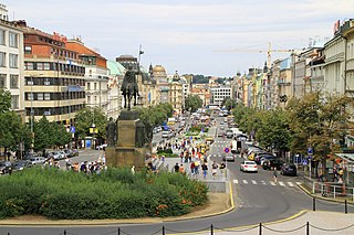 Wenceslas Square square in Prague