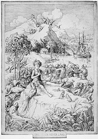 Peter and Wendy - Illustration by F. D. Bedford from the first edition