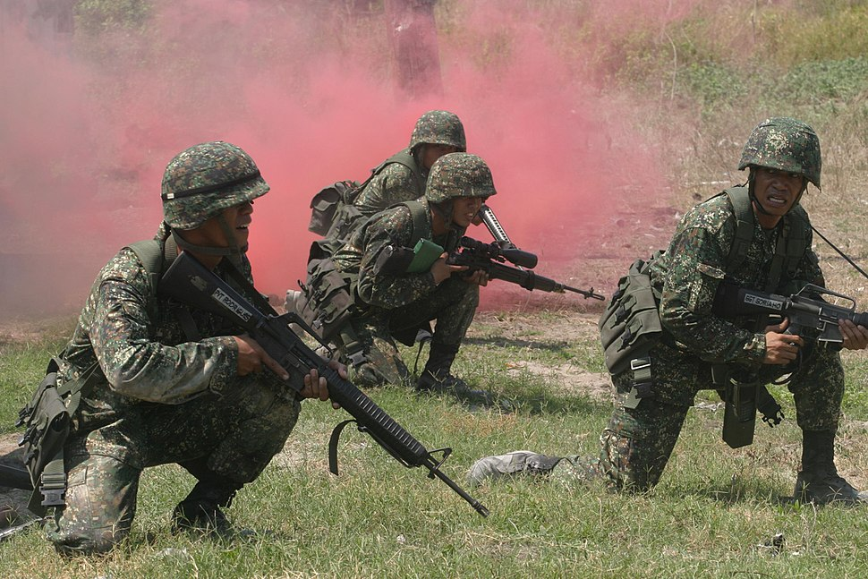 Philippine Marines with 28th Company 8th Marine Battalion Landing Team
