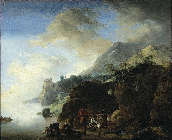 Philips Wouwerman - Travelers Awaiting a Ferry