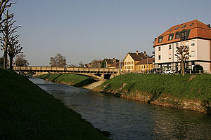 Payerne - La Broye river at Payerne
