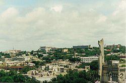 मोगादीशू शहर का एक हवाई-दृश्य