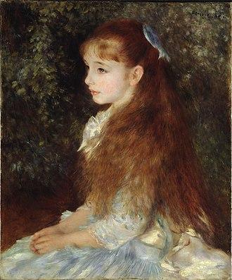 Pierre-Auguste Renoir - Portrait of Mademoiselle Irène Cahen d'Anvers (La Petite Irène), 1880, Foundation E.G. Bührle, Zürich