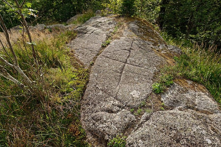 Site mégalithique des Pierres du Jour, sur la commune de Laprugne dans l'Allier.