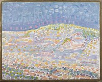 Piet Mondriaan - Pointillist dune study, crest at right - 0334292 - Kunstmuseum Den Haag.jpg