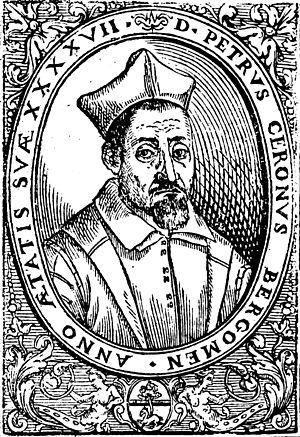 Pietro Cerone - Portrait from Cerone's 1613 treatise El melopeo y maestro