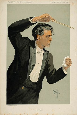 Pietro Mascagni - Mascagni caricatured by WH for Vanity Fair, 1912