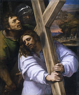 Christ Carrying the Cross - Sebastiano del Piombo, about 1513-14