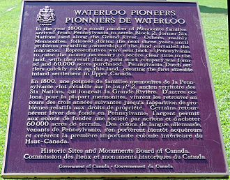 German Canadians - The Waterloo Pioneer Tower honours the Mennonite Germans who helped populate Waterloo County.