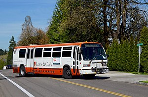 Transportation Manufacturing Corporation - A 1994 TMC RTS bus still in service in 2016 for Lewis & Clark College, in Portland, Oregon