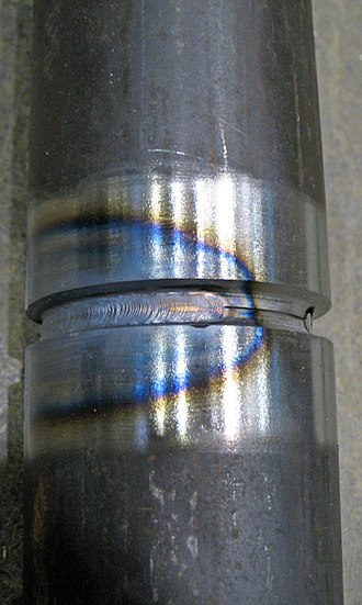 Heat-affected zone - Heat affected zone around a weld