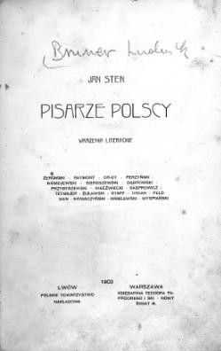 Pisarze Polscy Stencałość Wikiźródła Wolna Biblioteka